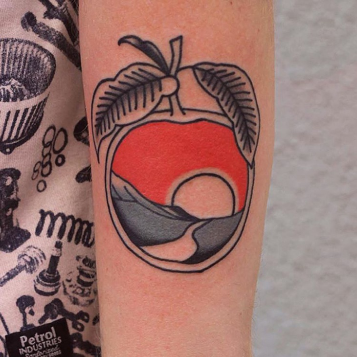 simple fruit tattoo design