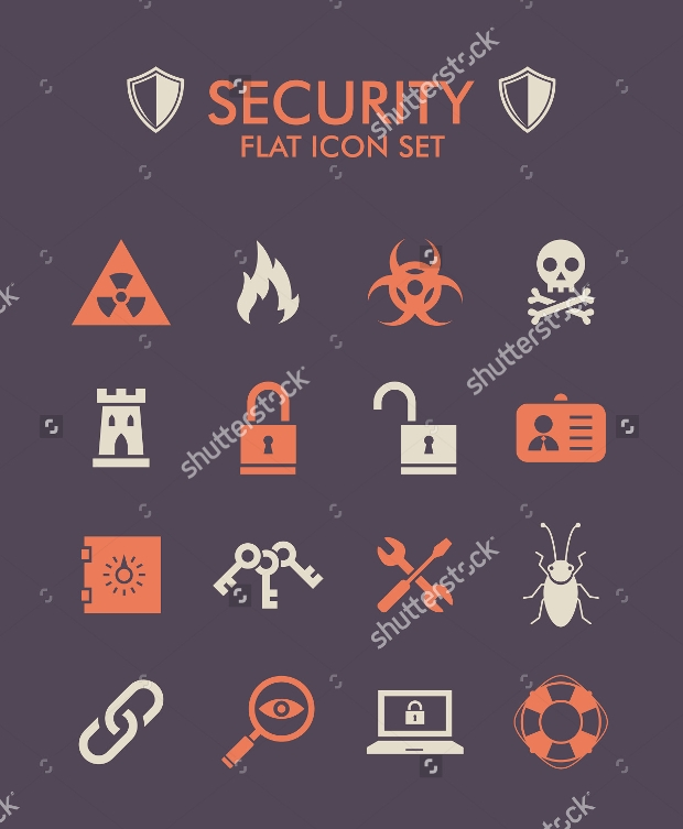 Security Flat Icon Set