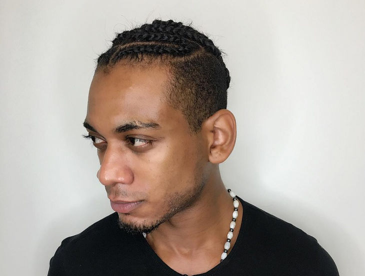 Cool Men Braided Hairstyle