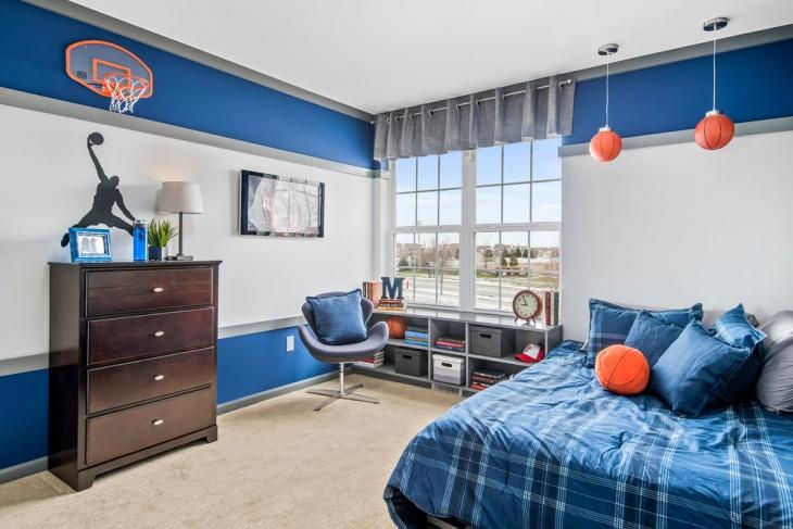 teen boys bedroom with decorative idea