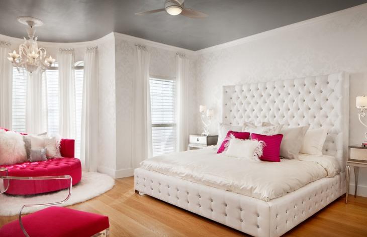 white teen bedroom design