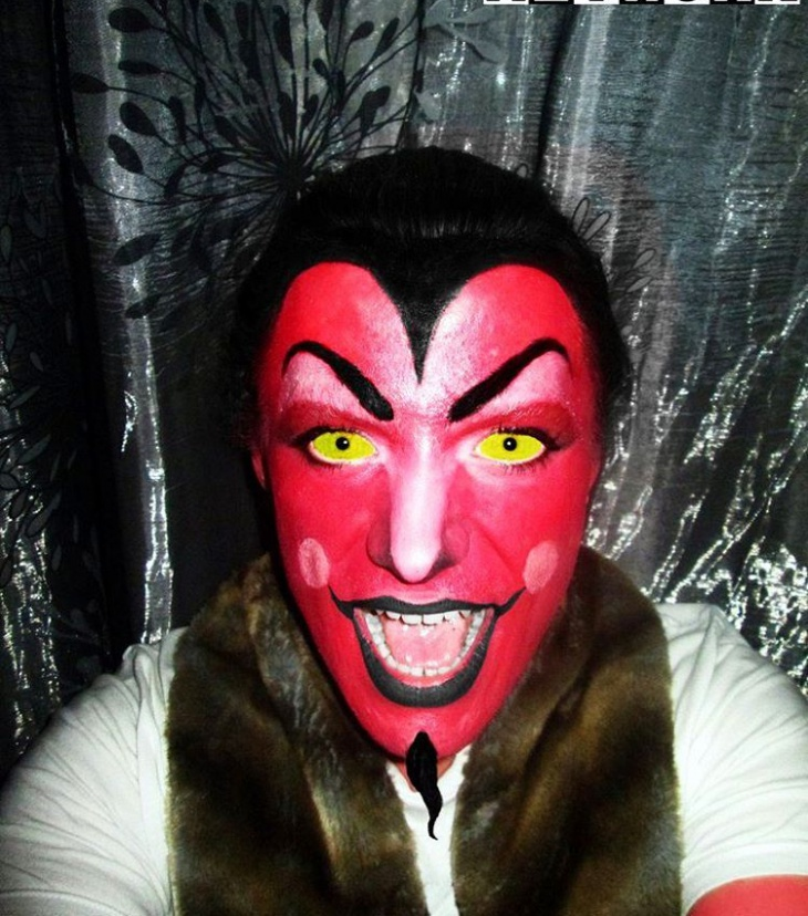 Cartoon Demon Makeup
