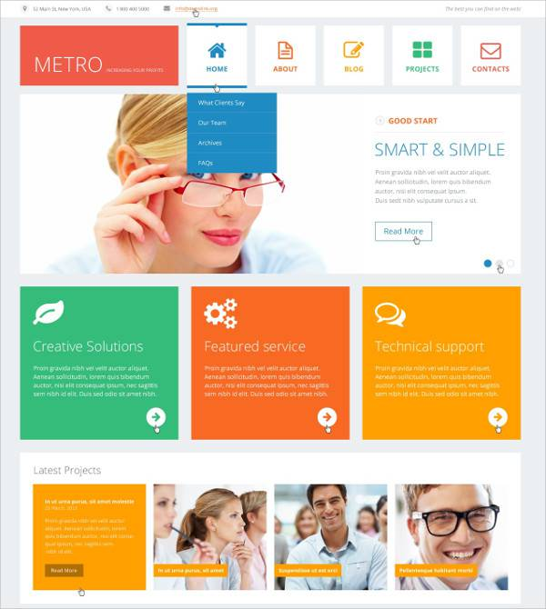 consulting business flat wordpress theme