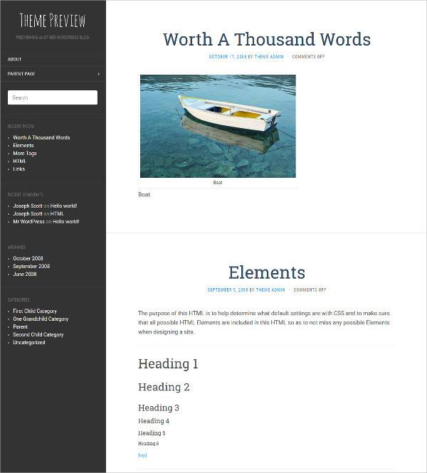 flat wordpress theme for personal blog and magazines