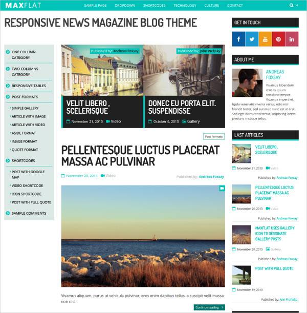 fully responsive wordpress theme for small magazines