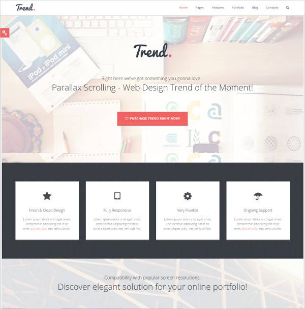 flat clean wordpress theme for page building