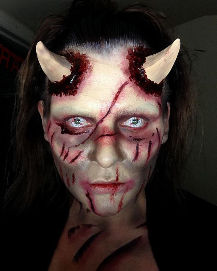 Terrifying Demon Makeup