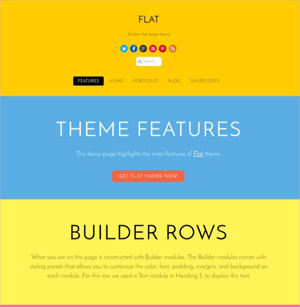 flat wordpresss theme for beautiful content