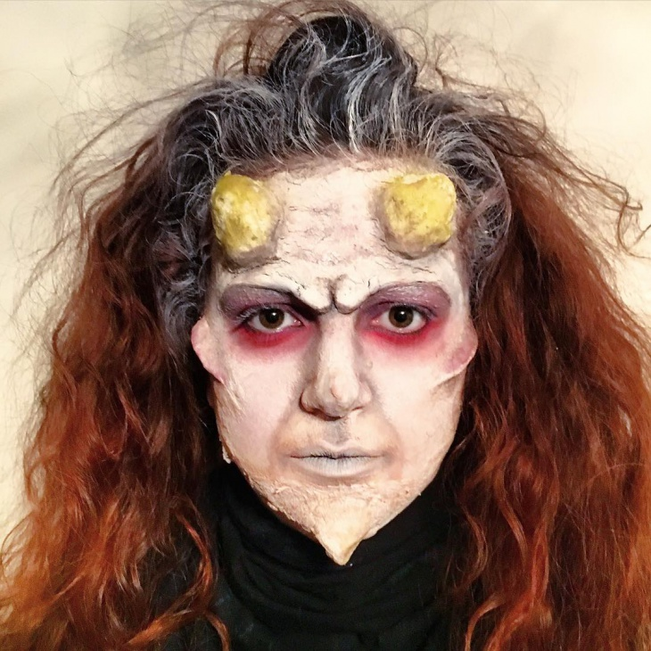Demon Creepy Face Makeup