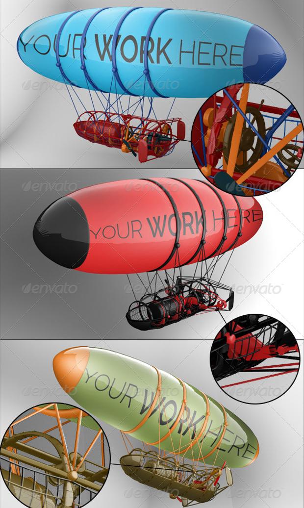 aircraft balloon mock up