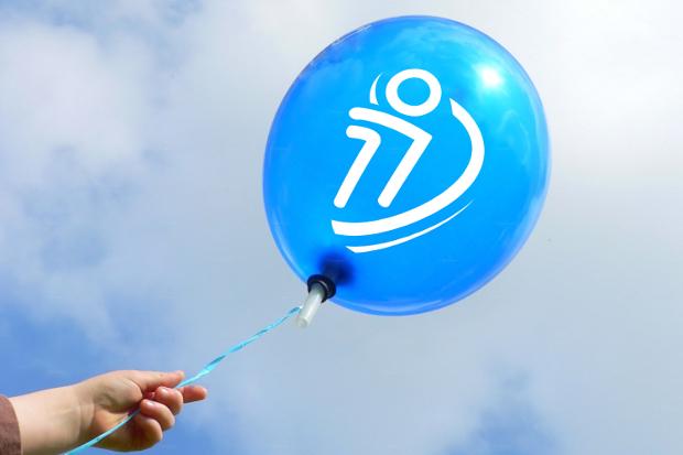 air balloon logo mock up