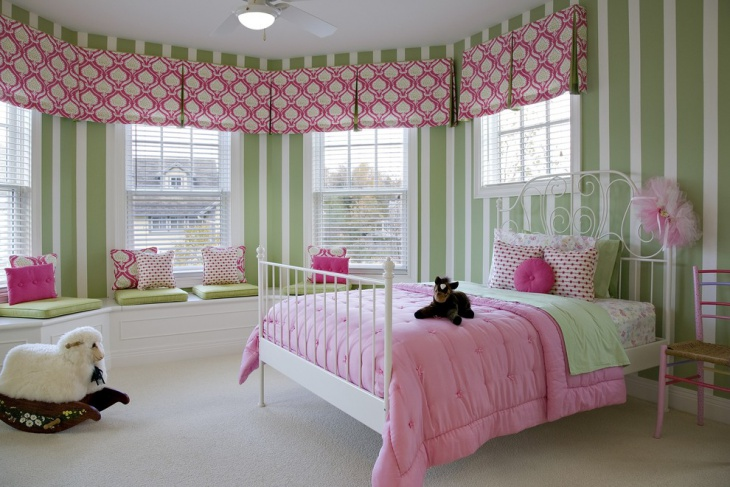 Pink and Green Kids Room
