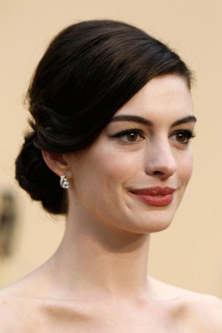 Anne Hathaway Chignon Hairstyle