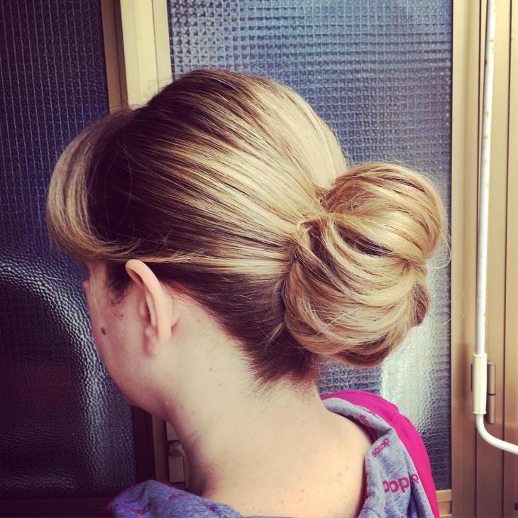 Simple Sleek Chignon Hair