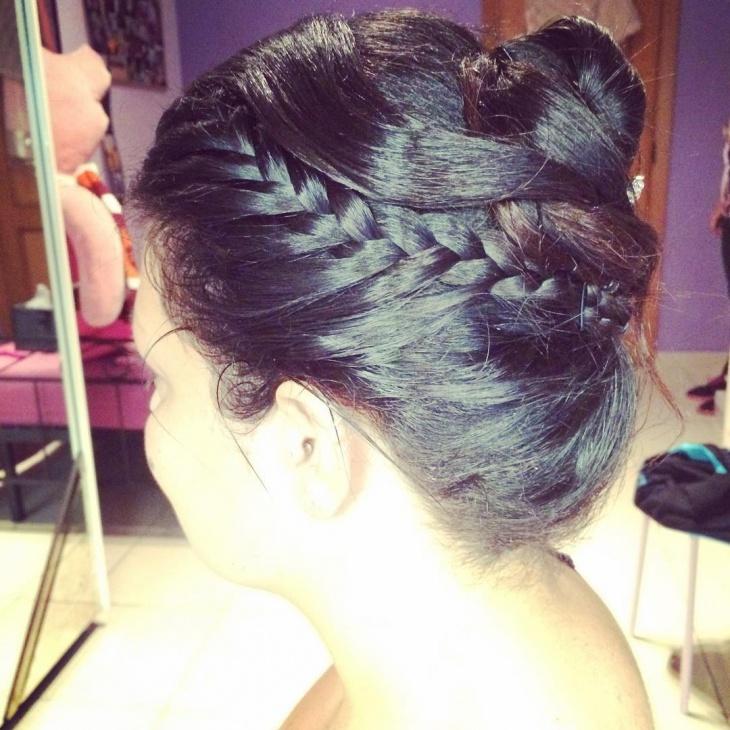 Chignon Braid Hairstyle