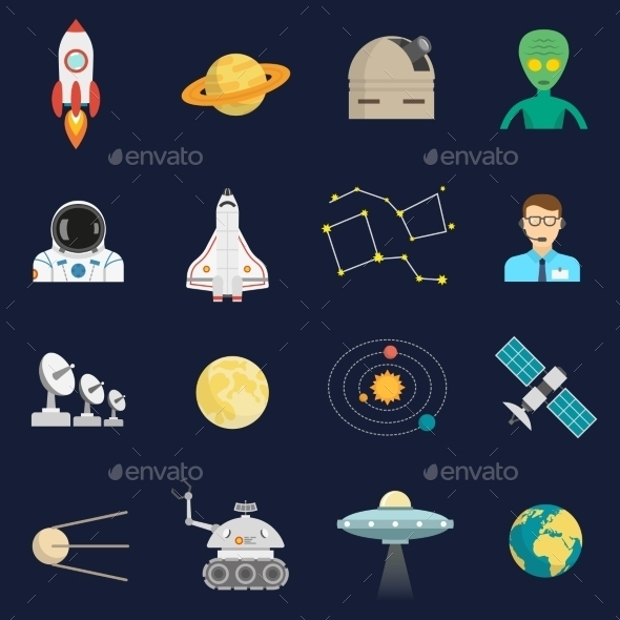space cosmos icons