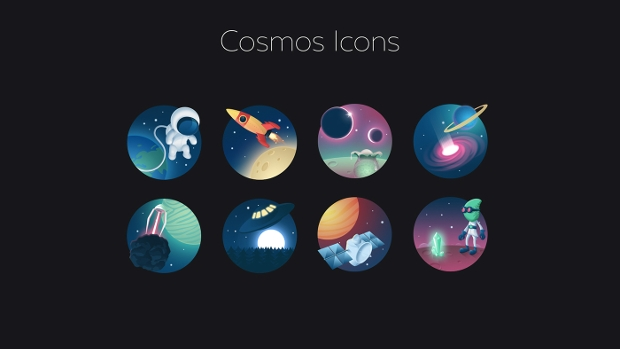 Free Cosmos PSD Icons