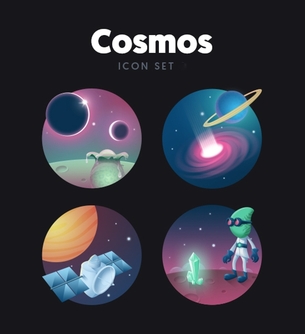 cosmic celestial bodies icon