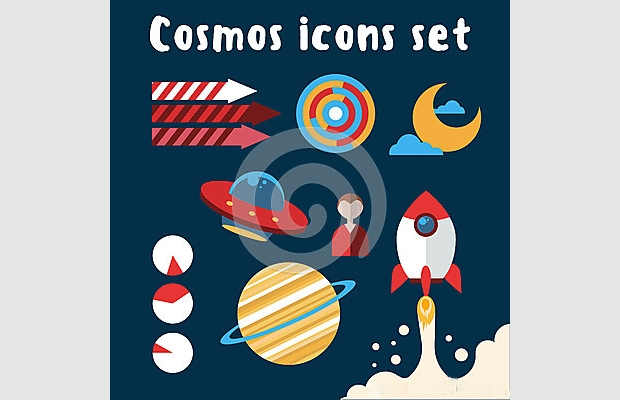 black cosmos icons
