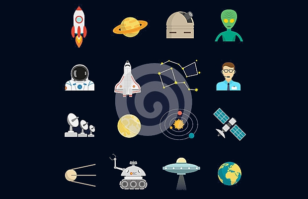 Space Cosmos Flat Icons