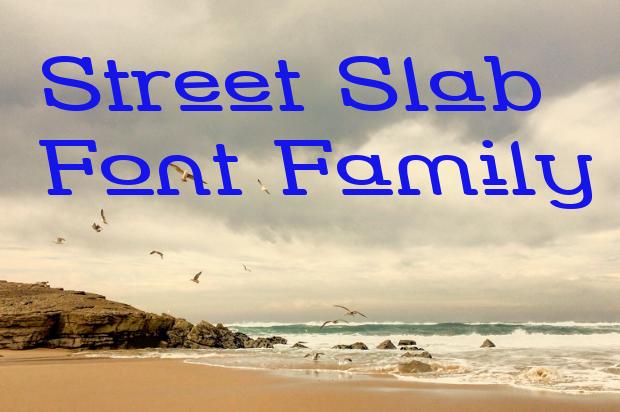 street slab font