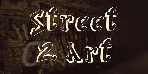street art outlined font