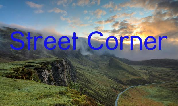 street corner font