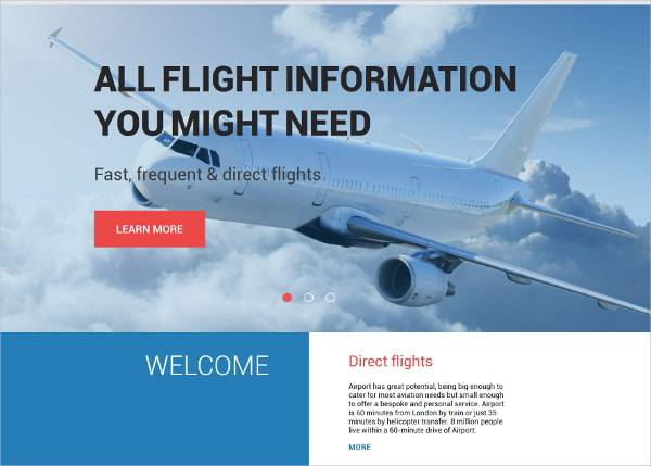 transportation wordpress theme for airlines