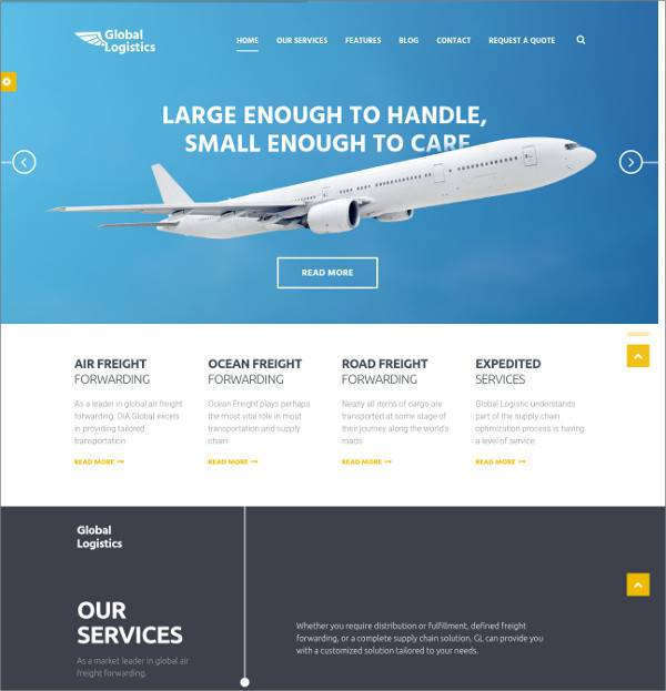 multipurpose transportation wordpress theme1