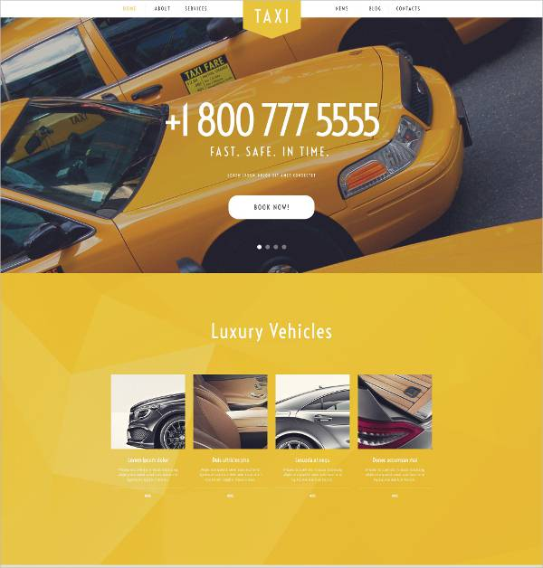 wordpress theme for taxi services1