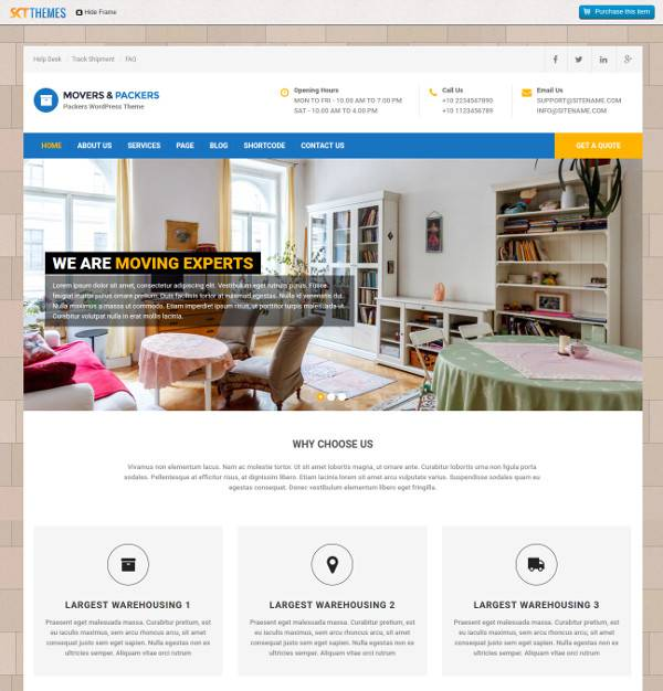 packers packers transport wordpress template