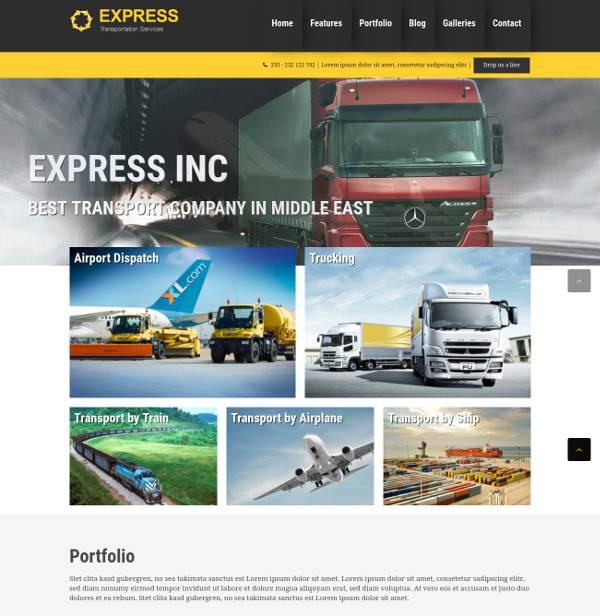 express transport wordpress theme
