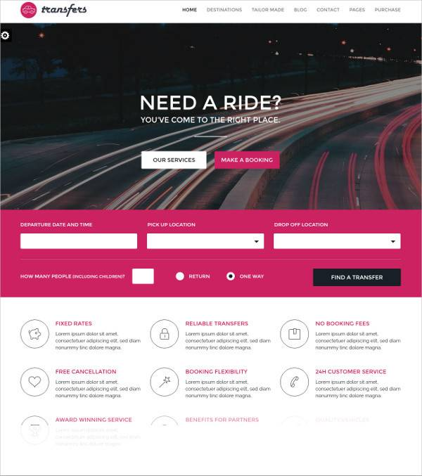 transport business wordpress theme1
