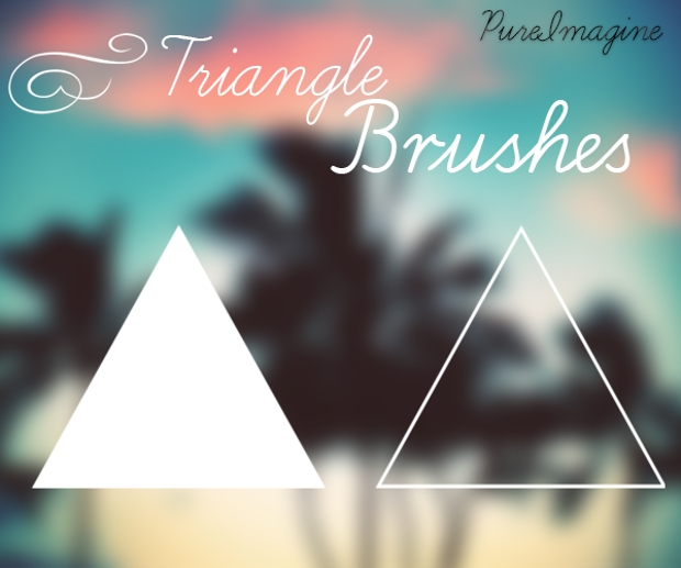 high resolution triangle brushes