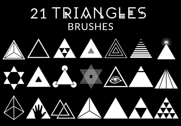 Line Design Art Psd : Traingle brushes free abr format download design