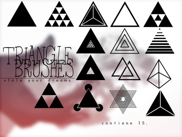 solid triangle photoshop brushes