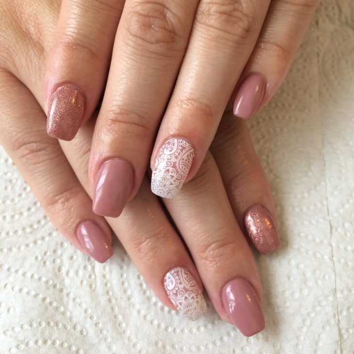 Lace Pattern Nail Design