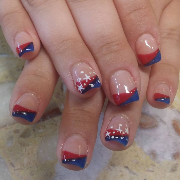 Star Pattern Nail Art