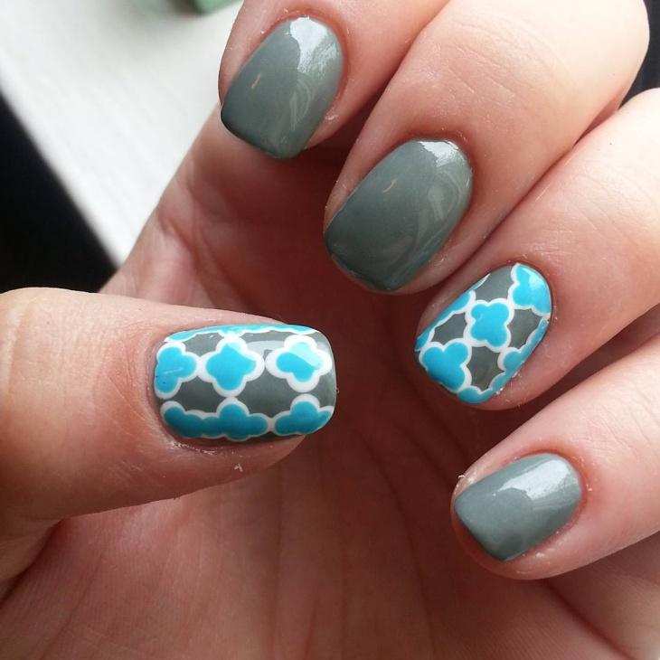 cute pattern nail art for short nails