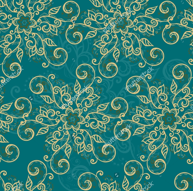 Turquoise Floral Texture Designs