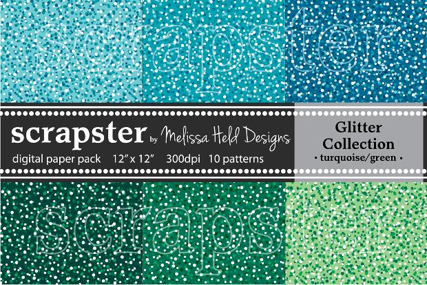Glitter Turquoise PSD Texture