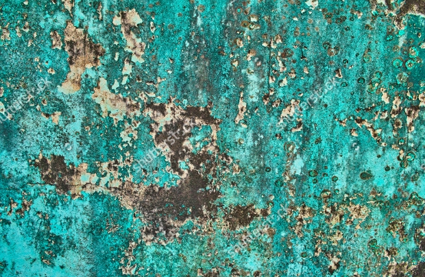 Abstract Scratched Turquoise Texture