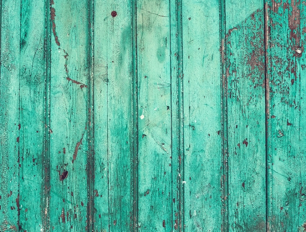 Old Painted Wooden Turquoise Texture