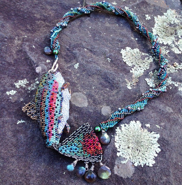 Colorful Bead Work Necklace