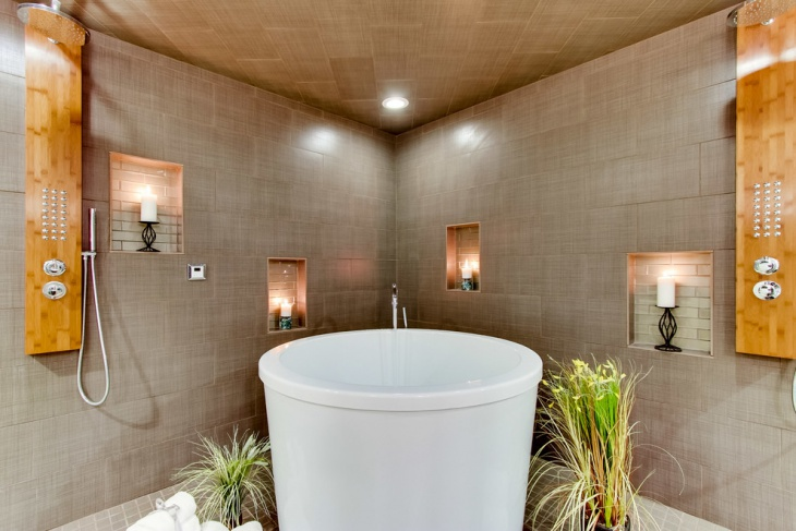 Japanese Bathroom Ceiling Idea