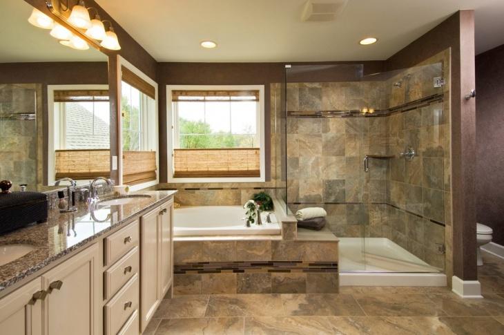 Bathtub with Unique Tiles