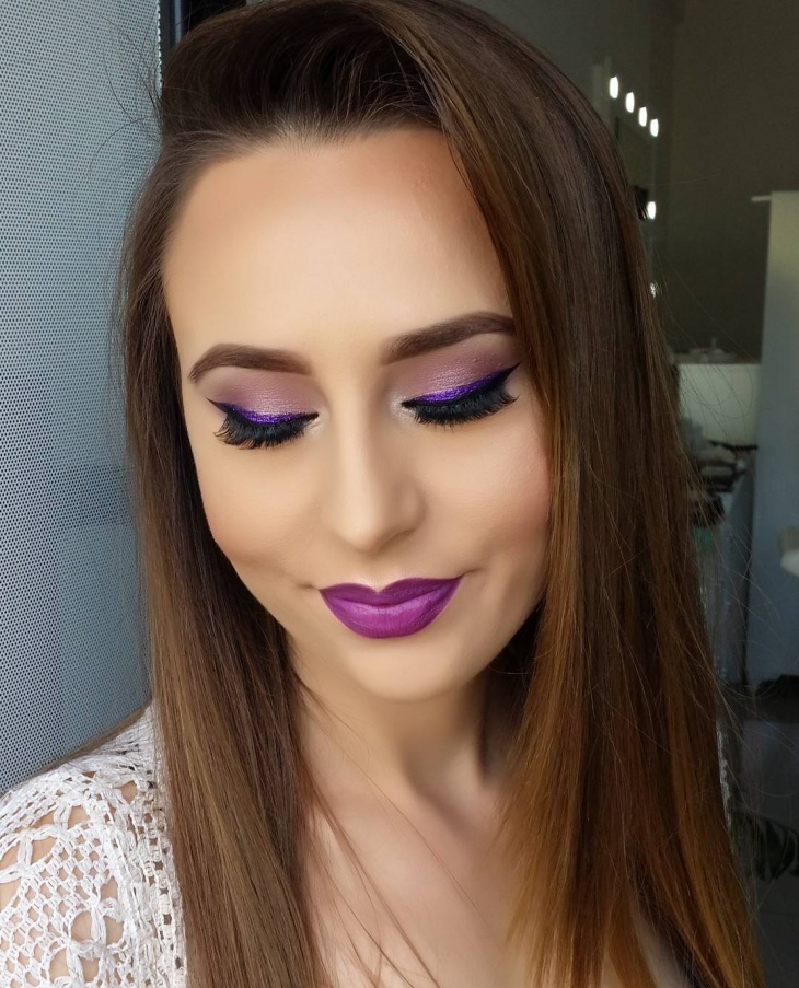 Purple Blush Makeup
