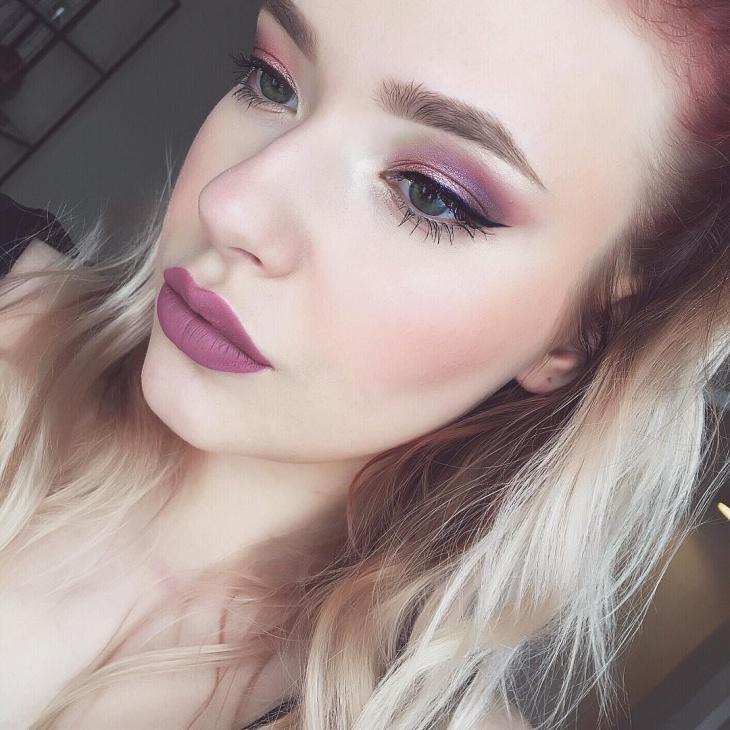 Purple Lipstick Makeover