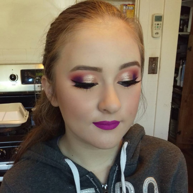 Gold and Purple Makeup
