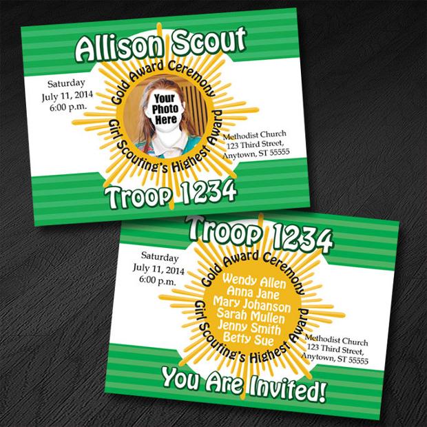 Gold Award Ceremony Invitation
